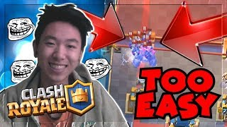 Clash Royale CHEST OPENING 4000+ TROPHIES PRO BATTLE STRATEGY! BEST DECK LADDER PUSHING UPDATE 2018