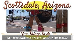 Old Town Scottsdale with kids and Live music at Rusty Spur Saloon