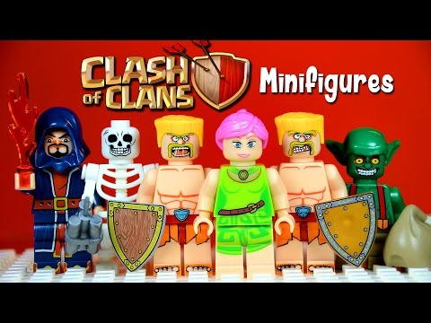 LEGO Clash of Clans KnockOff Minifigures with Barbarians Archers Goblins Wall Breakers & Wizards