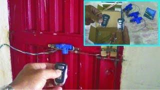 Como hacer cerradura a control remoto alta seguridad - door open remote control high security