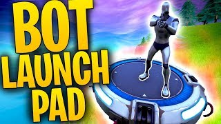 What Happens When A BOT Lands On A LAUNCH PAD? | SENTRY On Launchpad | Fortnite Mythbusters