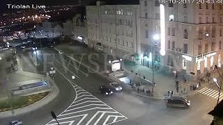 Момент столкновения смертельного Лексус  и пешеходы в Украине