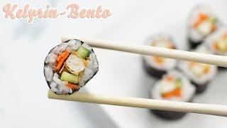 Vegan sushi recipe   How to make easy maki sushi with grilled tofu