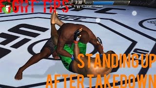 EA SPORTS UFC Mobile - Fight Tips: Standing up after Takedown