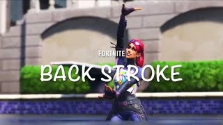 "#9 FORTNITE - ""Back Stroke(背泳ぎ)"" by female skins"