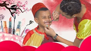 عمو صابر ومكياج كرم - amo saber and