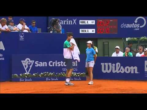 Rafael Nadal vs  Dominic Thiem. SF set-1 Argentina Open 2016