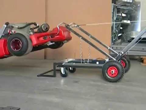 easy lifter carrello elettrico solleva kart youtube