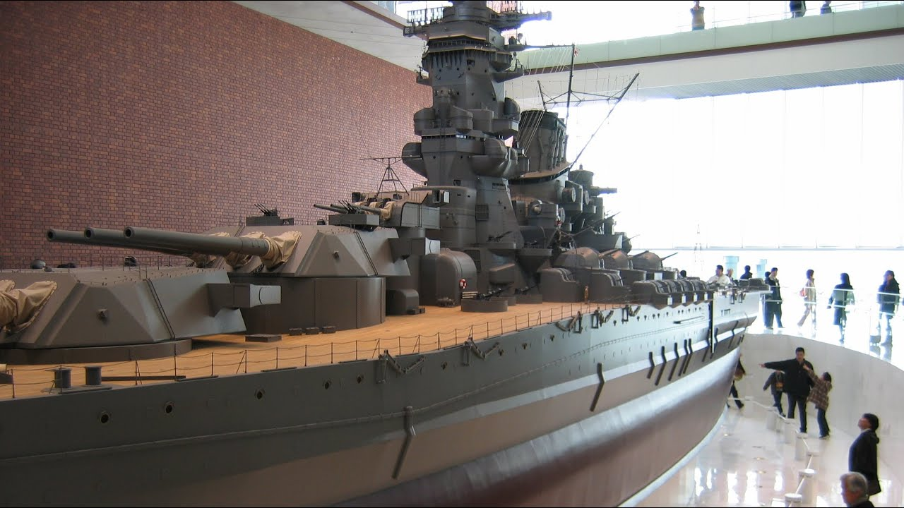 Japanese Battleship Yamato (1/10 scale model 26 3m)