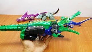 Mở hộp đồ chơi Robot GAO HUNTER lắp ghép siêu nhân gao cá sấu thợ săn