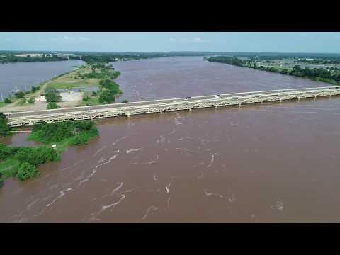 Tulsa Flood 2019 - 5/25/2019 - Arkansas River, Gathering Place, Bixby