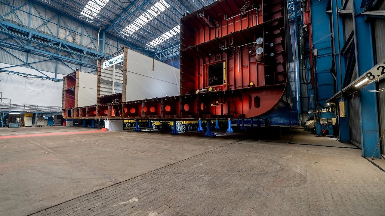Aidacosma Kiellegung In Der Neptun Werft