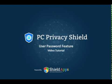 PC Privacy Shield - User and Password