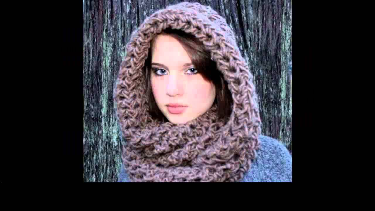 crochet cowl hood - YouTube