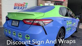 Toyota Camry Full Wrap done by Discount Signs And Wraps