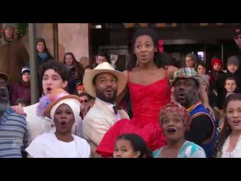 "Cast of ""Once On This Island"" perform at Macy's Thanksgiving Day Parade"