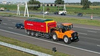 Hovertrack Luctor 544 met Schuitemaker Rapide 8400 RS  op de snelweg Trekkerweb Agritechnica