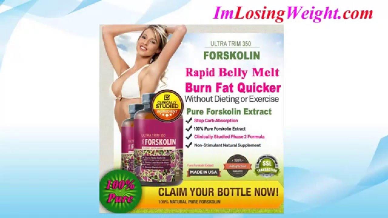 Ultra Trim 350 Forskolin Review Best Fat Burning Pills Youtube