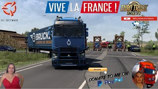 Euro Truck Simulator 2 (1.40 Beta)   Extension for the SCS map 1.40 (2.0) by Jpgamer1703 Renault Range T by SCS Pack Tuning Renault Range T v0.4b by HorseeHorse Modding Range T Tuning by MDModder Delivery to Nantes DLC Vive la France by SCS Animated gates in companies v3.7 [Schumi] Real Company Logo v1.0 [Schumi] Company addon v1.9 [Schumi] Trailers and Cargo Pack by Jazzycat Motorcycle Traffic Pack by Jazzycat FMOD ON and Open Windows Naturalux Graphics and Weather Spring Graphics/Weather v3.6 (1.38) by Grimes Test Gameplay ITA Europe Reskin v1.0 + DLC's & Mods  For Donation and Support my Channel https://paypal.me/isabellavanelli?loc???...  SCS Software News Iberian Peninsula Spain and Portugal Map DLC Planner...2020 https://www.youtube.com/watch?v=NtKeP???... Euro Truck Simulator 2 Iveco S-Way 2020 https://www.youtube.com/watch?v=980Xd???... Euro Truck Simulator 2 MAN TGX 2020 v0.5 by HBB Store https://www.youtube.com/watch?v=HTd79???...  All my mods I use in the video Promods map v2.51 https://www.promods.net/setup.php??? Traffic mods by Jazzycat https://sharemods.com/hh8z6h9ym82b/pa???... https://sharemods.com/lpqs4mjuw3h6/ai???... https://ets2.lt/en/painted-bdf-traffi???... https://sharemods.com/eehcavh87tz9/bu???... Graphics mods https://download.nlmod.net/??? https://grimesmods.wordpress.com/2017???... Europe Reskin https://forum.scssoft.com/viewtopic.p???... Trailers pack https://ets2.lt/en/trailers-and-cargo???... https://tzexpress.cz/??? Others mods Company addon v1.8 [Schumi] https://forum.scssoft.com/viewtopic.p???... Real Company Logo v1.3 [Schumi] https://forum.scssoft.com/viewtopic.p???... Animated gates in companies v3.8 [Schumi https://forum.scssoft.com/viewtopic.p???...  #TruckAtHome??? #covid19italia??? Euro Truck Simulator 2    Road to the Black Sea (DLC)    Beyond the Baltic Sea (DLC)   Vive la France (DLC)    Scandinavia (DLC)    Bella Italia (DLC)   Special Transport (DLC)   Cargo Bundle (DLC)   Vive la France (DLC)    Bella Italia (DLC)    B