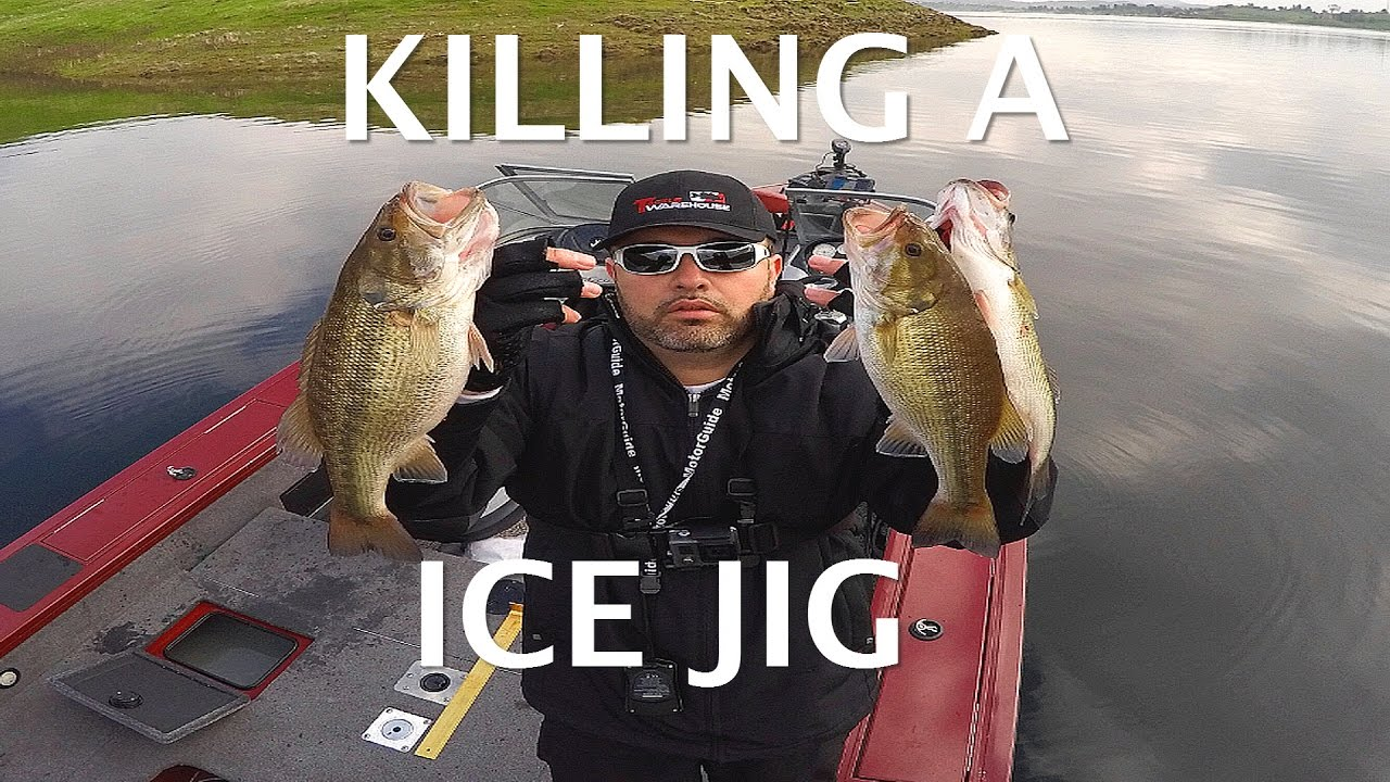 Bass fishing with a ice jig millerton lake california for Fresno fishing report 2017