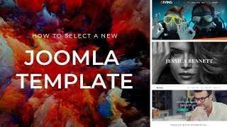 How to select a new Joomla template