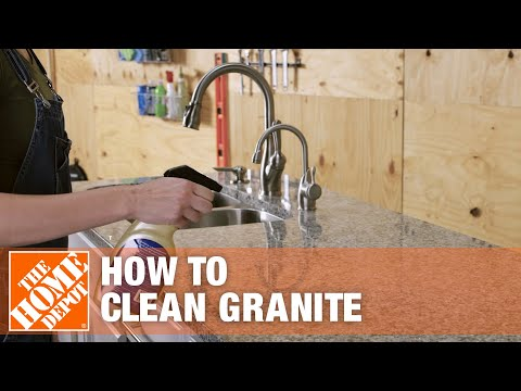 How to Clean Granite   The Home Depot