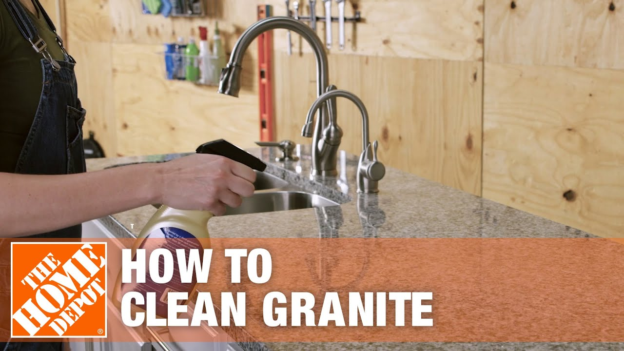 How To Clean Granite The Home Depot Youtube