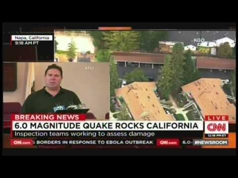 6.0 Earthquake hits Napa Valley, San Francisco Bay Area (August 24, 2014)