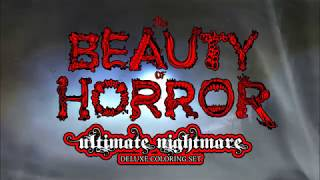 The Beauty of Horror: Ultimate Nightmare Deluxe Coloring Set by Life of Agony's Alan Robert