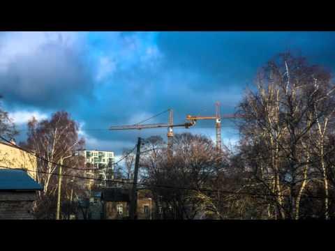 Tower cranes, Tallinn (time lapse)