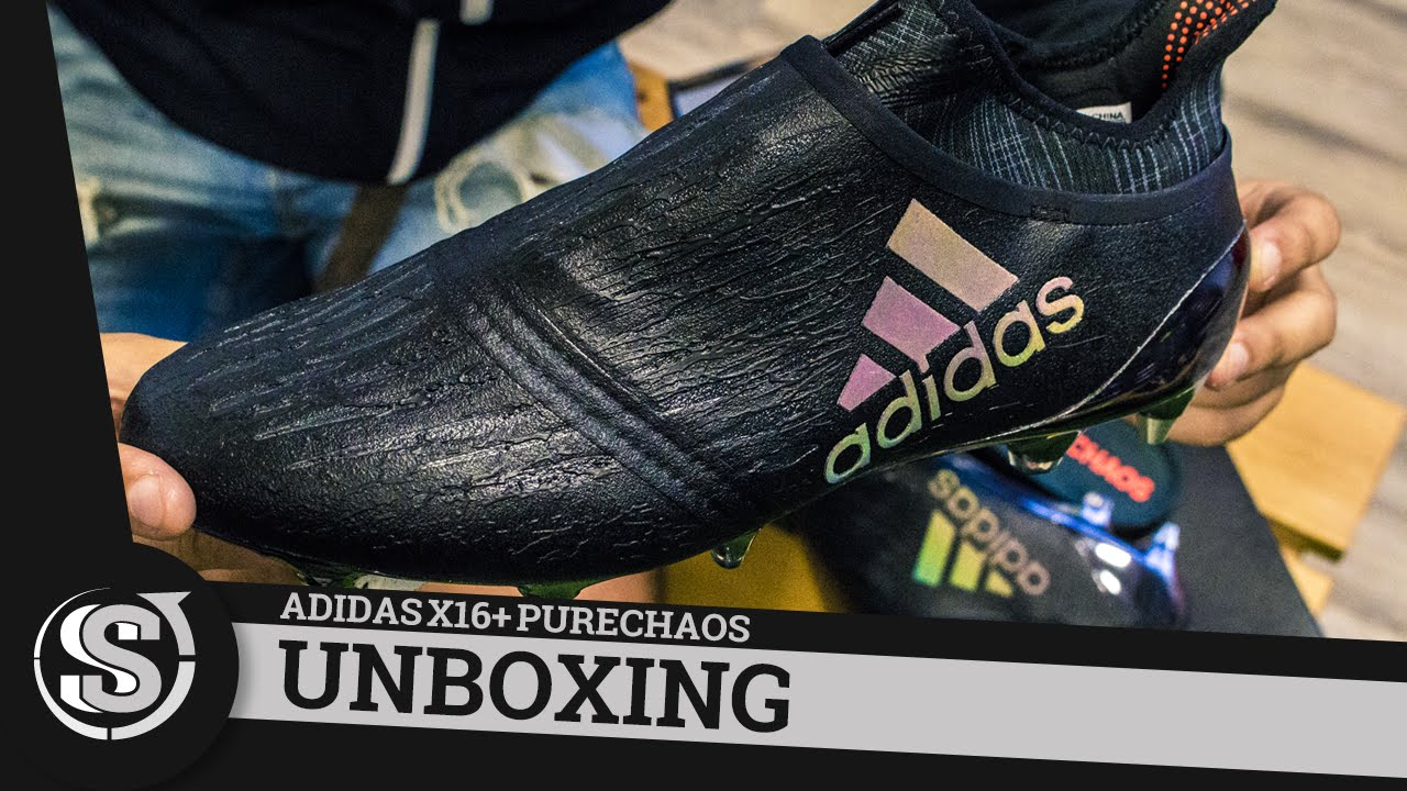 New adidas X16+ PureChaos Dark Space - Unboxing - YouTube 762f0898d54ee