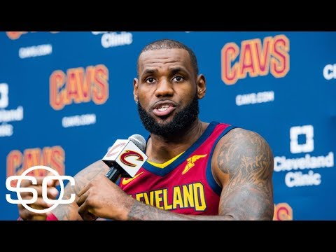 LeBron James talks Kyrie Irving, Dwyane Wade at press conference | SportsCenter  | ESPN