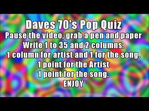 70's pop quiz