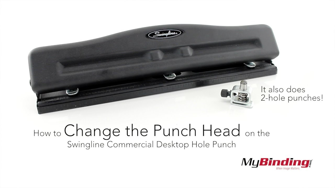 How To Change The Punch Head On The Swingline Commercial Desktop