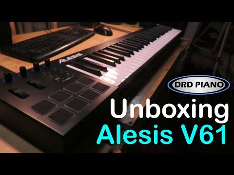 Unboxing Controlador Midi Alesis V61 y bancos de sonido