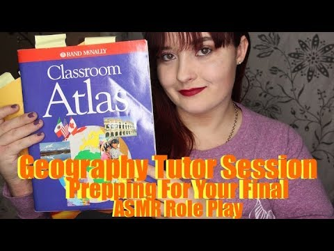 Geography Tutor Session ASMR Role Play [RP MONTH] Prepping For Your Final (Soft Spoken)
