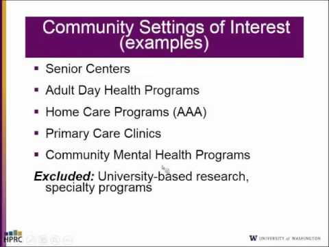 PEARLS: A Community Based Intervention for Depression ...