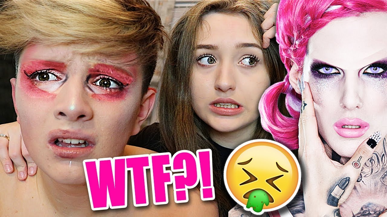 i tried following a jeffree star makeup tutorial on a boy