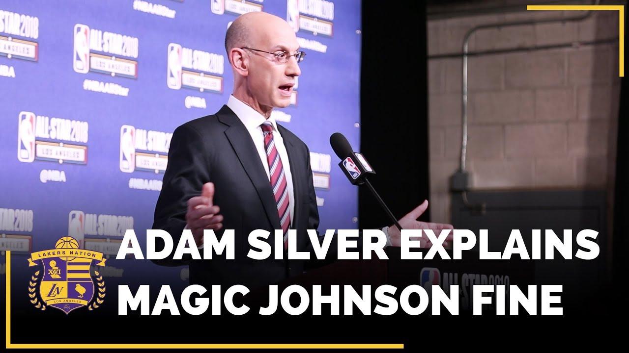 nba-commissioner-adam-silver-explains-the-nba-fine-on-lakers-magic-johnson