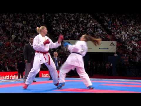 Bronze Female Kumite +68kg. Eleni Chatziliadou vs Sophie Savill. World Karate Championships 2012
