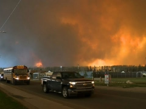 Fire Forces Canada To Evacuate City