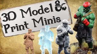 How To Make 3D Models and Printed Miniatures feat. M3DM