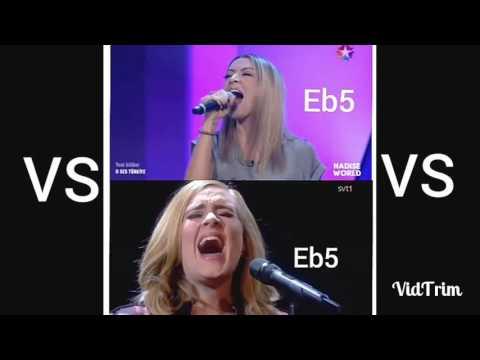 Hadise VS Adele Vocal Battle-High Notes (Düello)