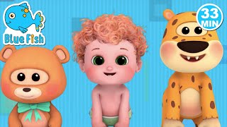 Head Shoulder Knees and Toes - Ultra HD 4K - rhymes and baby songs for kids