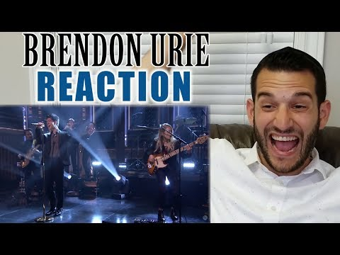 SINGING TEACHER reaction to BRENDON URIE singing SAY AMEN (Saturday Night) LIVE