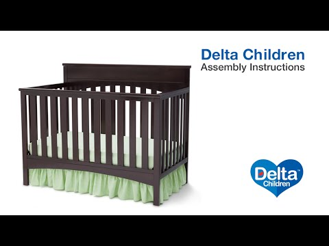 Delta Children Bennington Lifestyle 4-in-1 Crib Assembly Video
