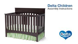 Delta Children Bennington Lifestyle 4-in-1 Crib Assembly Video