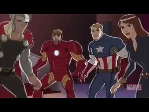 "The Avengers Theme with ""Avengers Assemble"" clips"