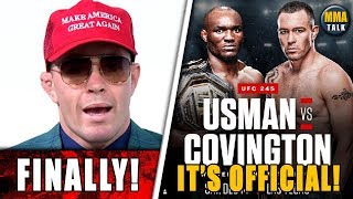 Colby Covington vs Kamaru Usman official for UFC 245, Colby reacts, Reactions to UFC Copenhagen