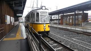 福井鉄道(735号機)通称:レトラム…田原町駅ヲ発車ス。